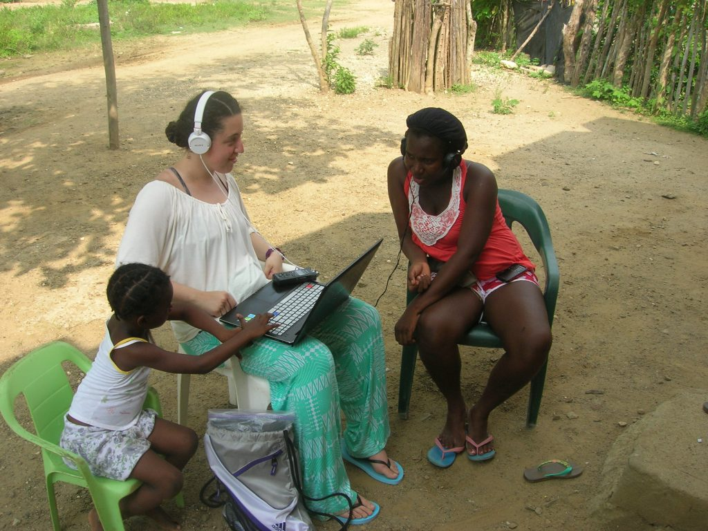 A Linguistics professor works with people in Africa studying their language